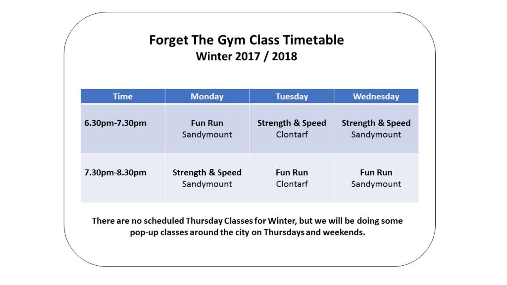 winter 2017 timetable