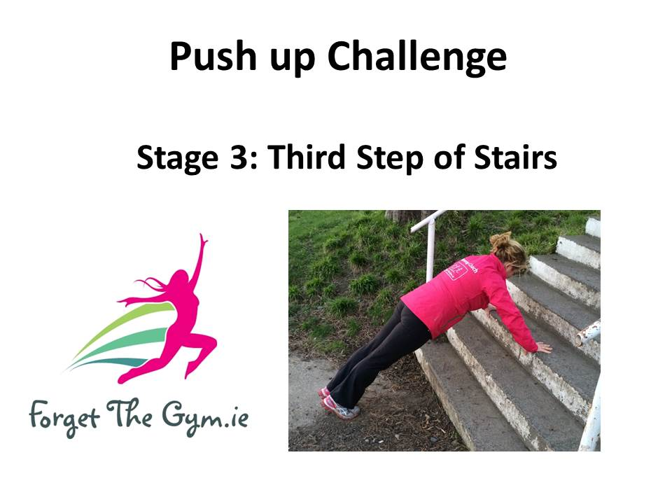 3rd Step of Stairs Pushup Title